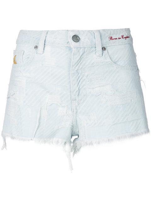 Vivienne Westwood Tartan Destroyed Shorts