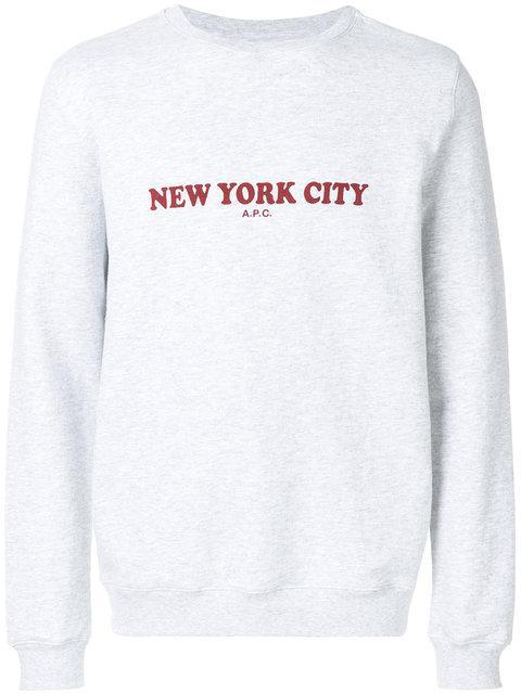 A.p.c. Front Printed Sweatshirt - Grey