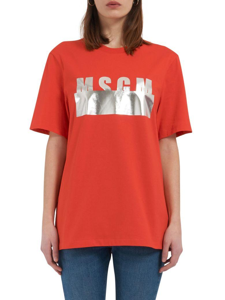 Msgm T-shirt In Red