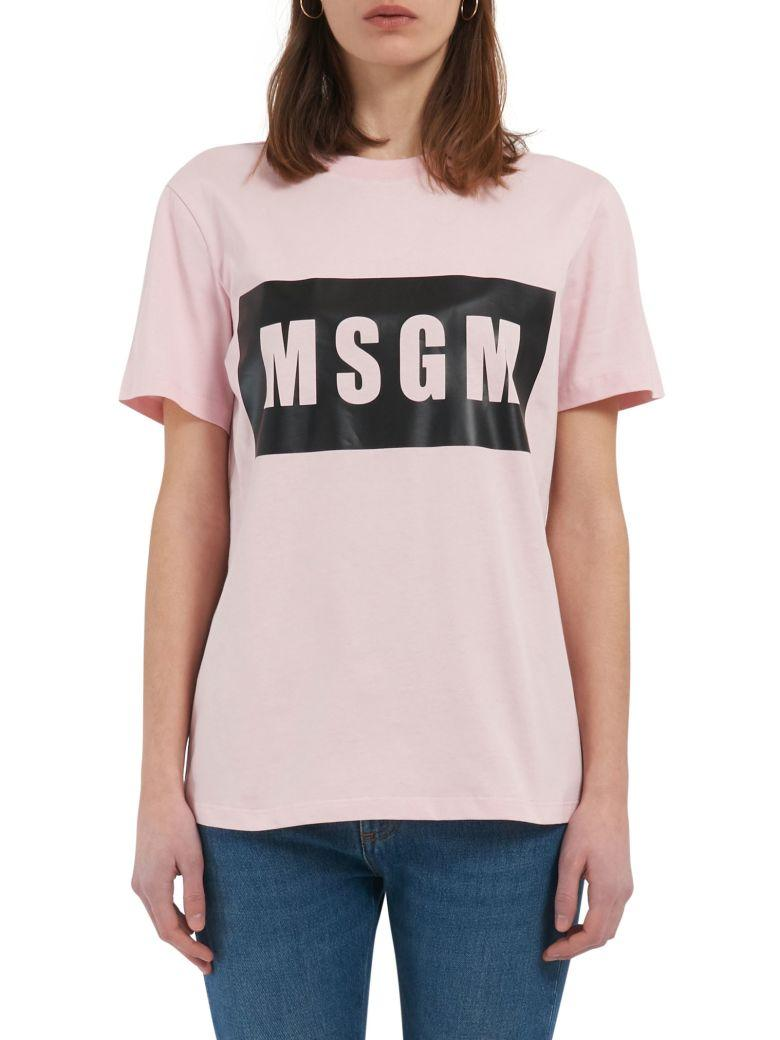 Msgm T-shirt In Pink