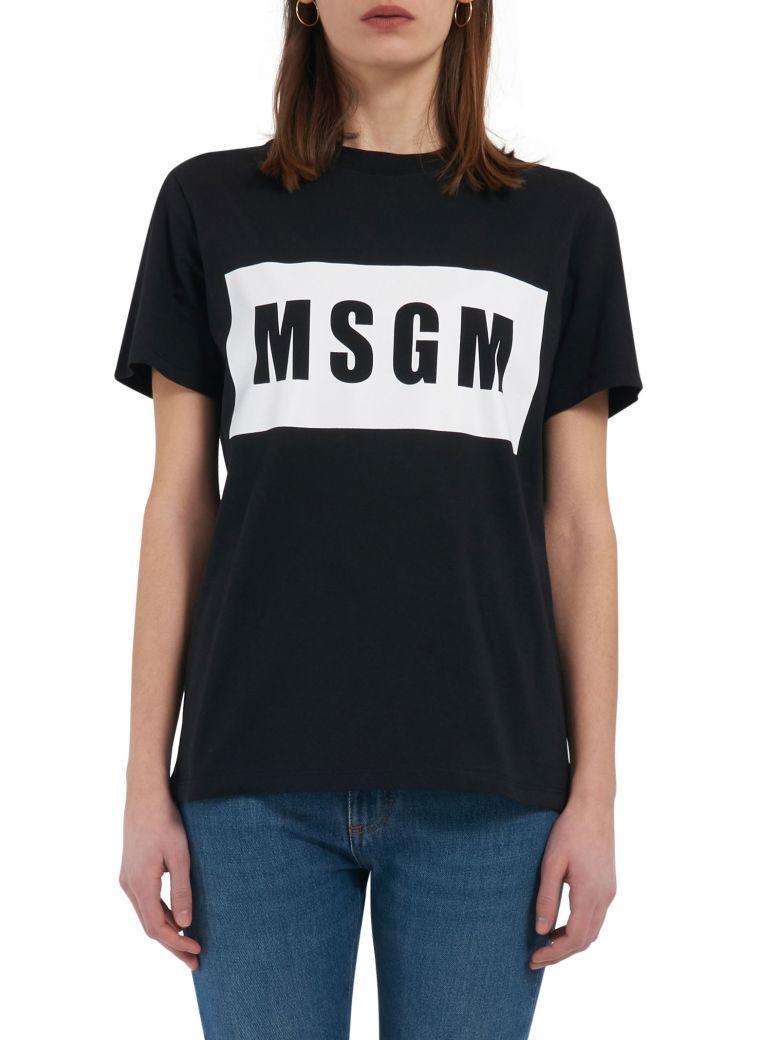 Msgm T-shirt In Black