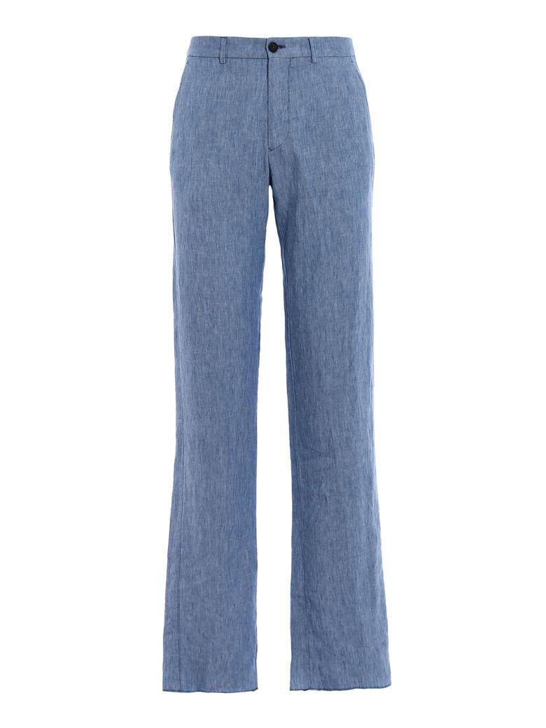 Giorgio Armani Classic Trousers In Sky Blue