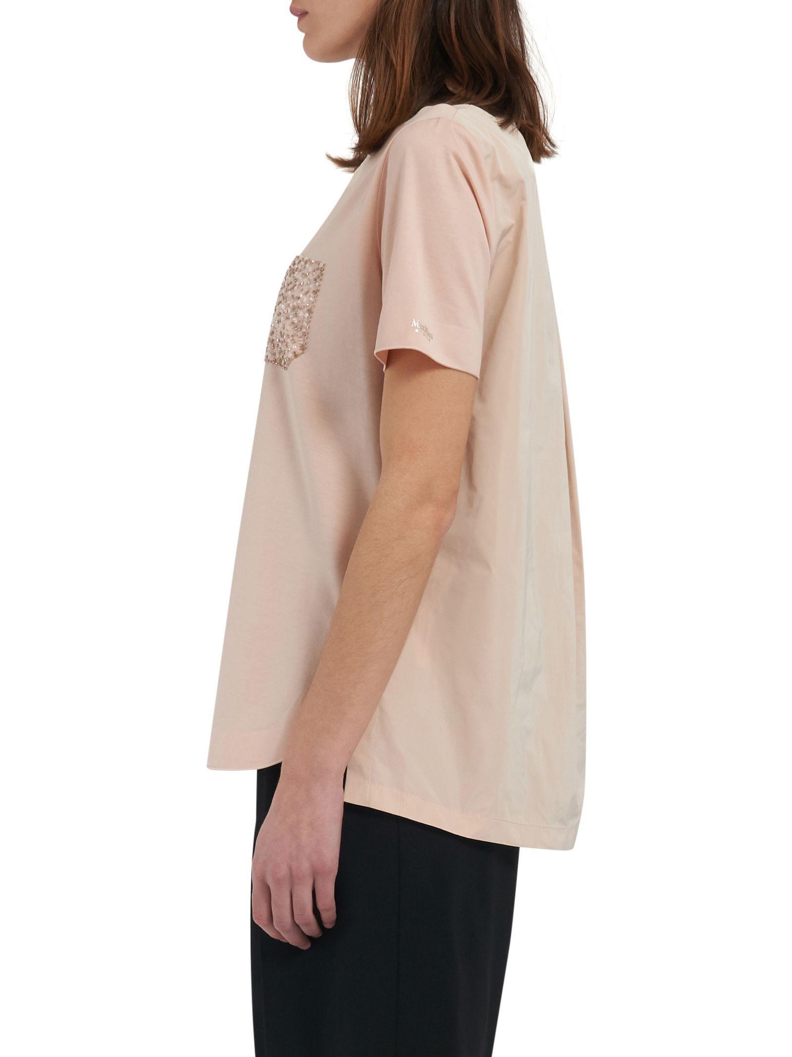 Max Mara Maxmara Studio T-shirt In Pink