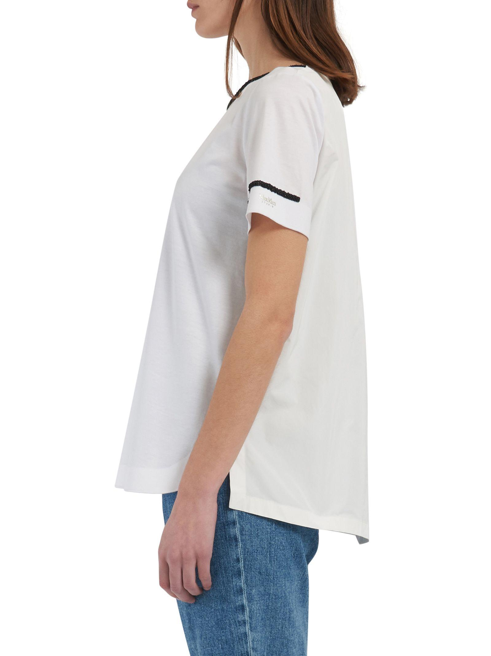 Max Mara Maxmara Studio T-shirt In White