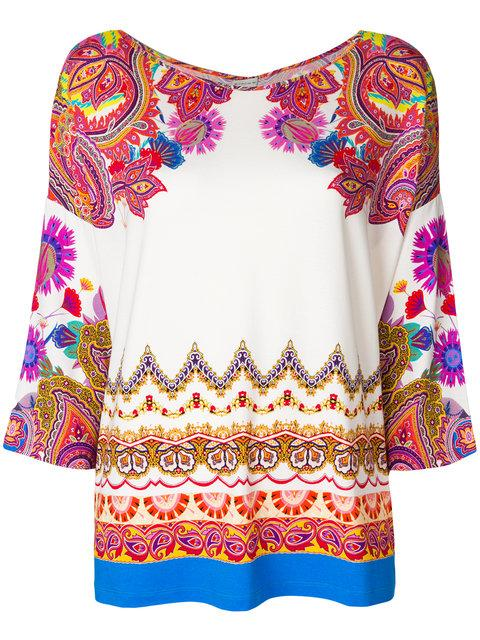 Etro Mixed Floral Print Blouse