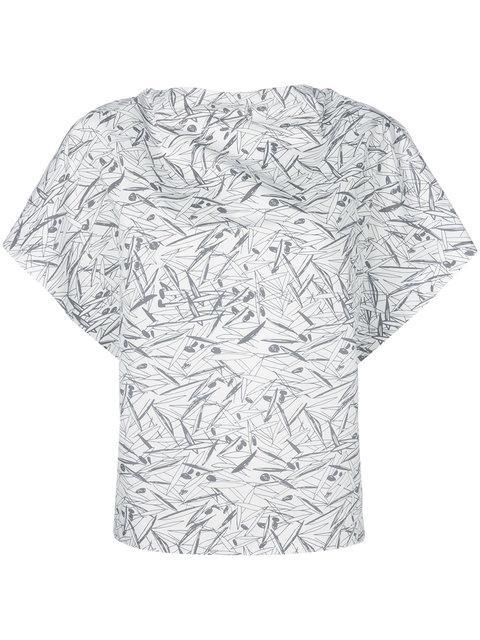 Chalayan Printed Short-sleeve Blouse - White