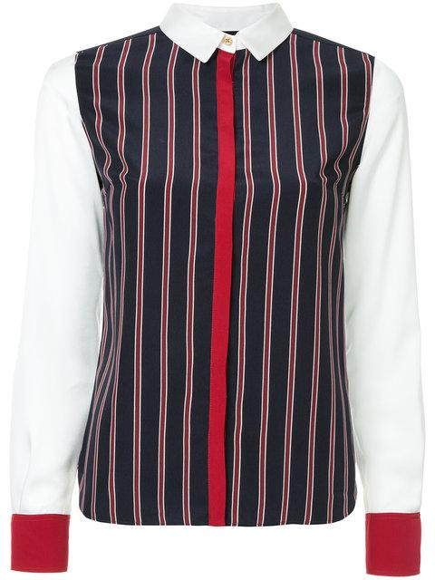 Guild Prime Striped Contrast Trim Shirt - Multicolour