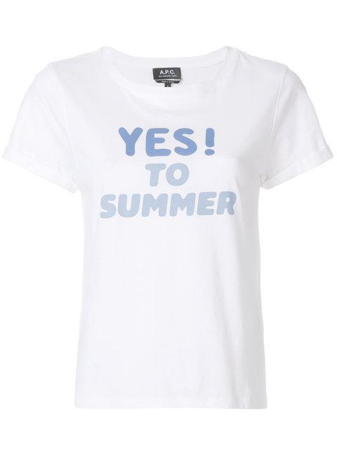 A.p.c. Front Print T-shirt