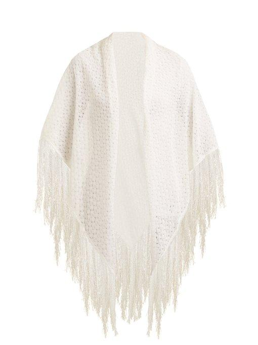 Missoni Fringe-trimmed Scarf In White