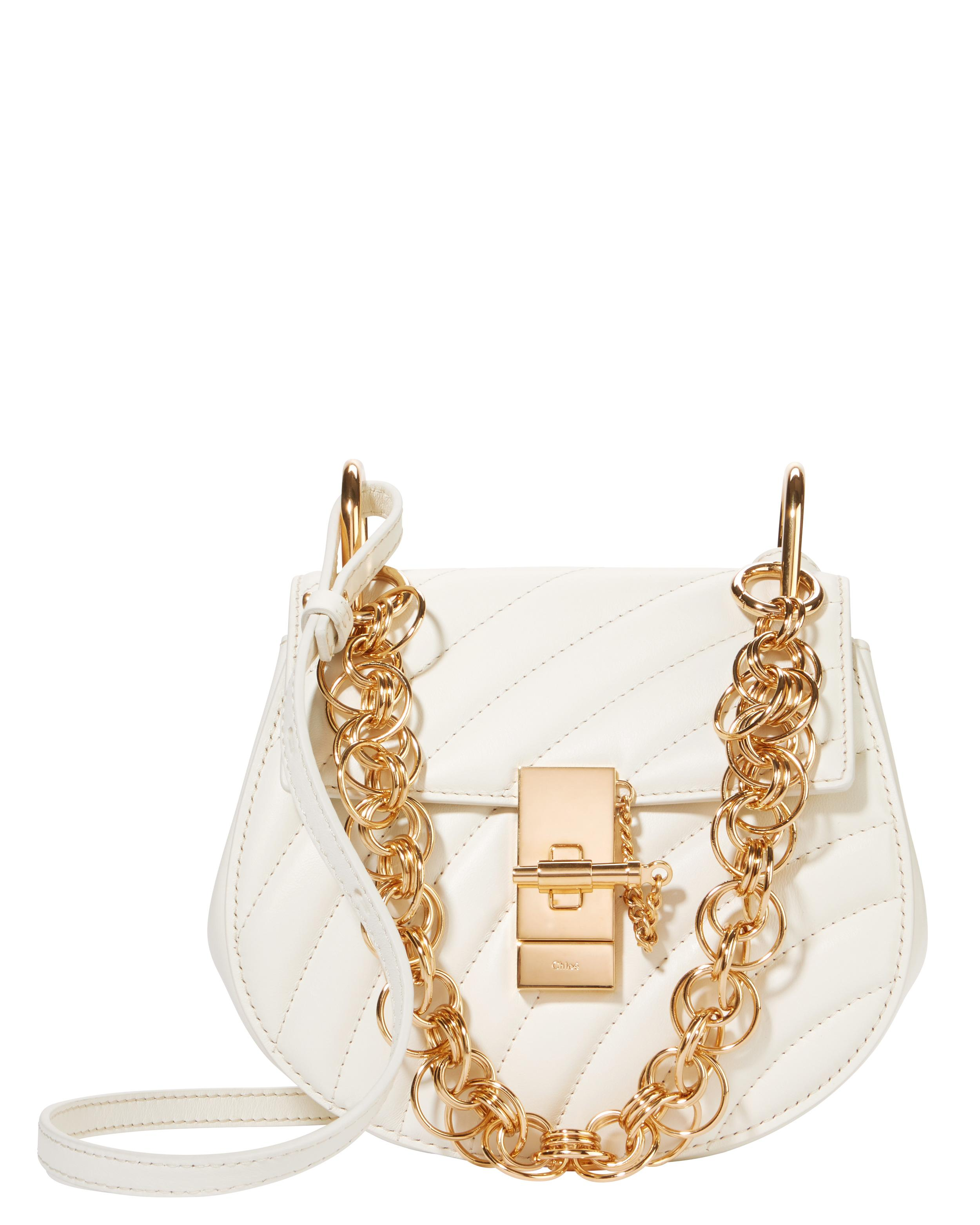 ChloÉ Chloé Drew Quilted Small Shoulder Bag White