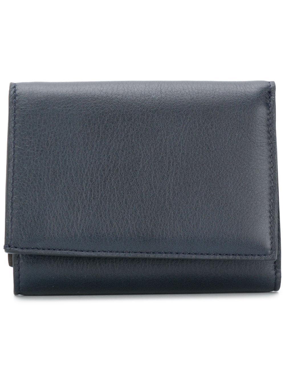 Maison Margiela Casual Foldover Wallet - Blue