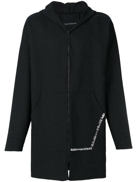 Alchemy Hooded Coat In Black