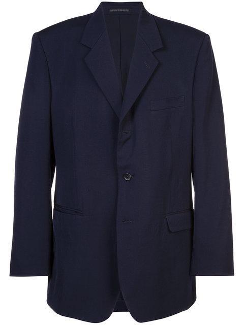 Yohji Yamamoto Boxy Suit Jacket - Blue