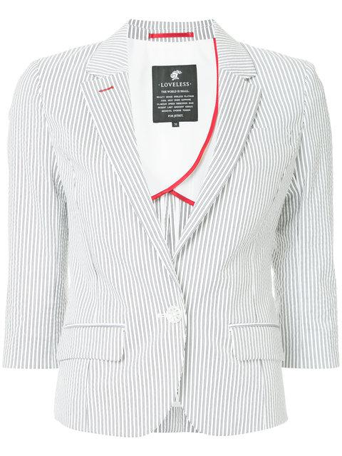 Loveless Pinstripe Blazer - White