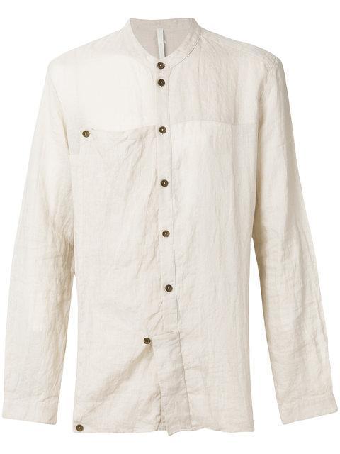 Barbara I Gongini Linen Shirt - Nude & Neutrals