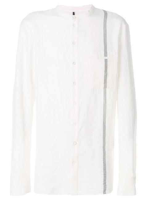 Masnada Band Collar Shirt - White
