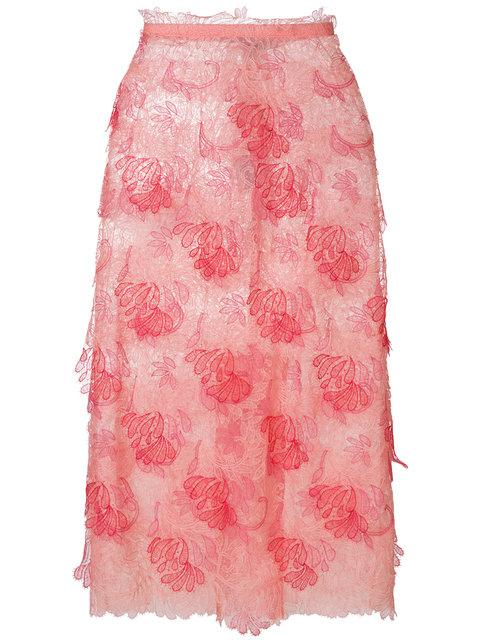 Ermanno Scervino Lace Skirt - Pink & Purple