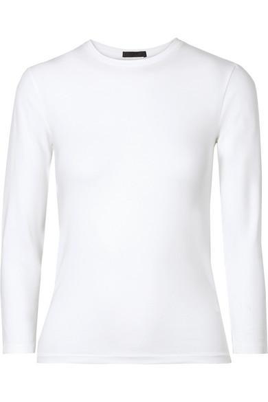 Atm Anthony Thomas Melillo Stretch-pima Cotton Jersey Top In White