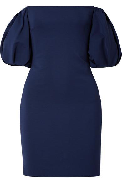 Cushnie Et Ochs Silvia Off-the-shoulder Stretch-ponte Mini Dress
