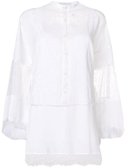 Ermanno Scervino Lace-panelled Blouse - White