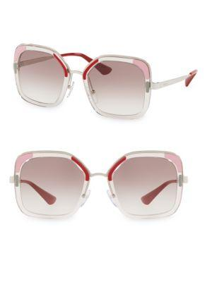 0cd95a14305 Prada Translucent Two Tone Sunglasses In Trans Brow