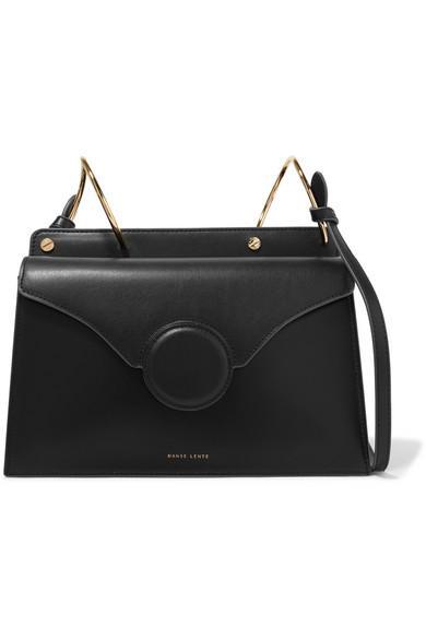 Danse Lente Phoebe Leather Shoulder Bag In Black