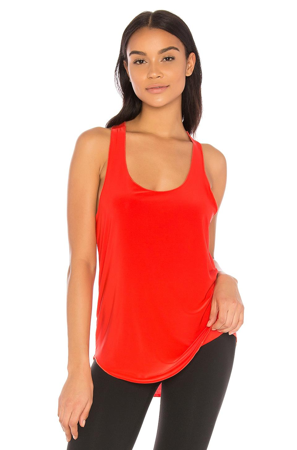 Onzie Glossy Flow Tank In Red