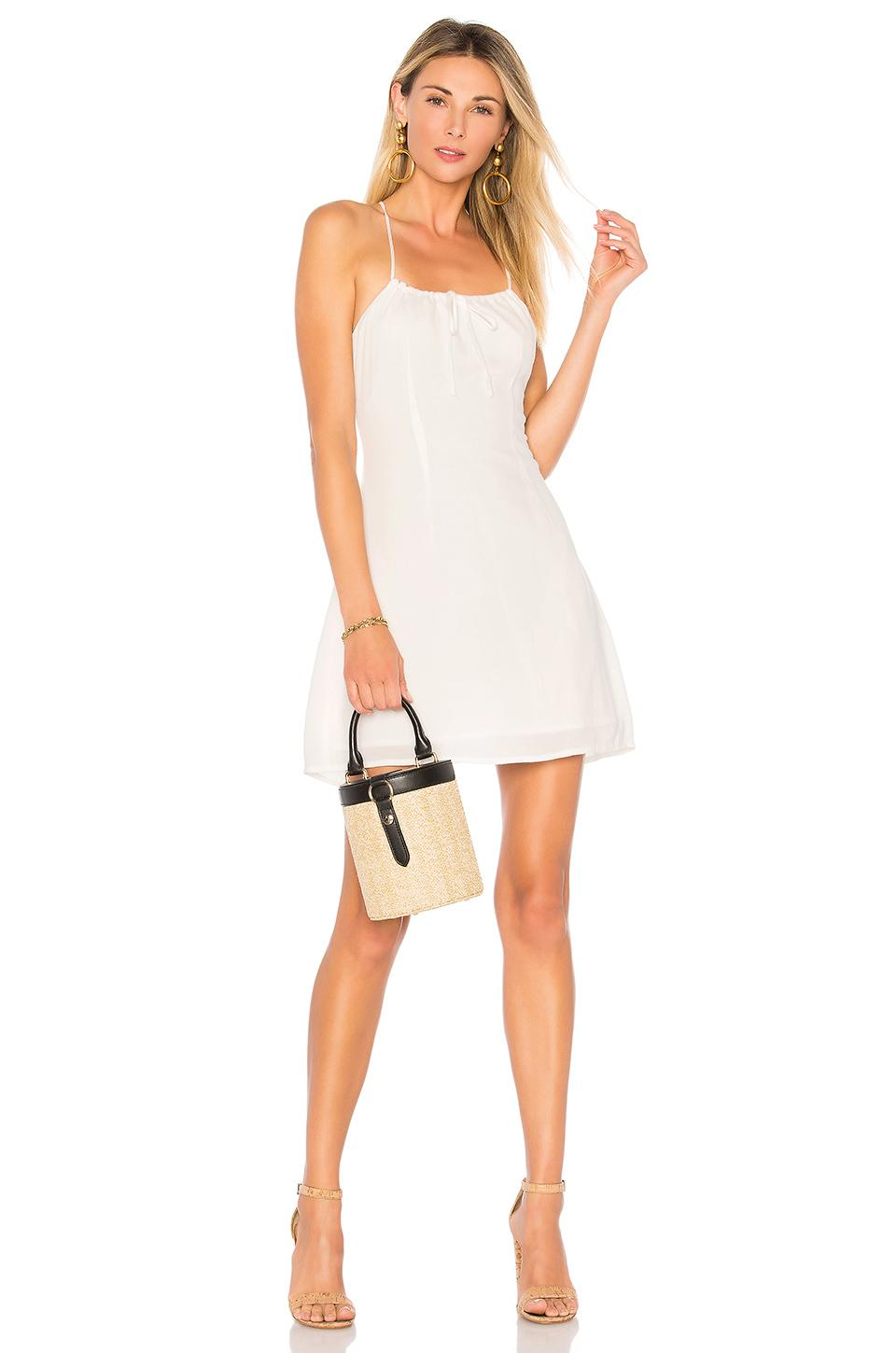 By The Way. Ellen Racer Back Dress In Ivory
