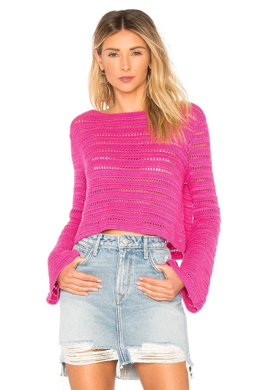 Lovers & Friends Amelia Sweater In Fuchsia