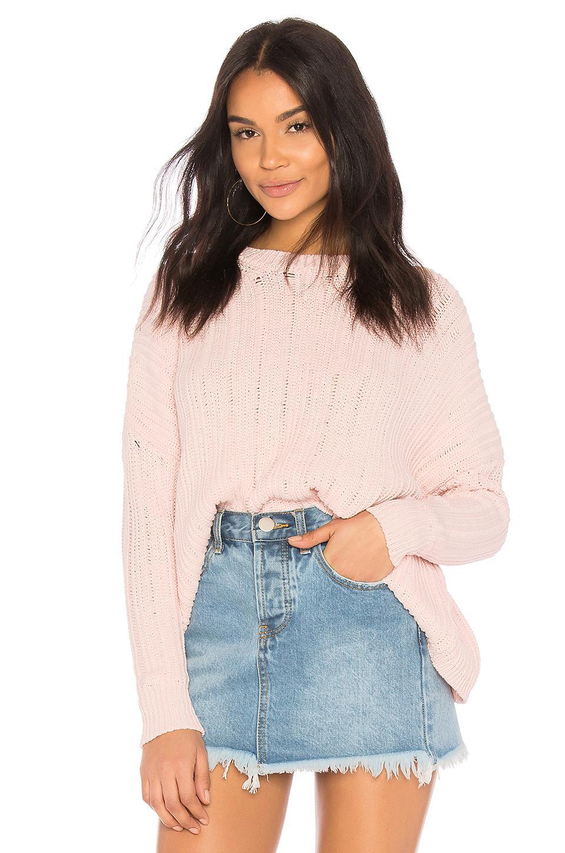 27 Miles Malibu Peg Sweater In Pink