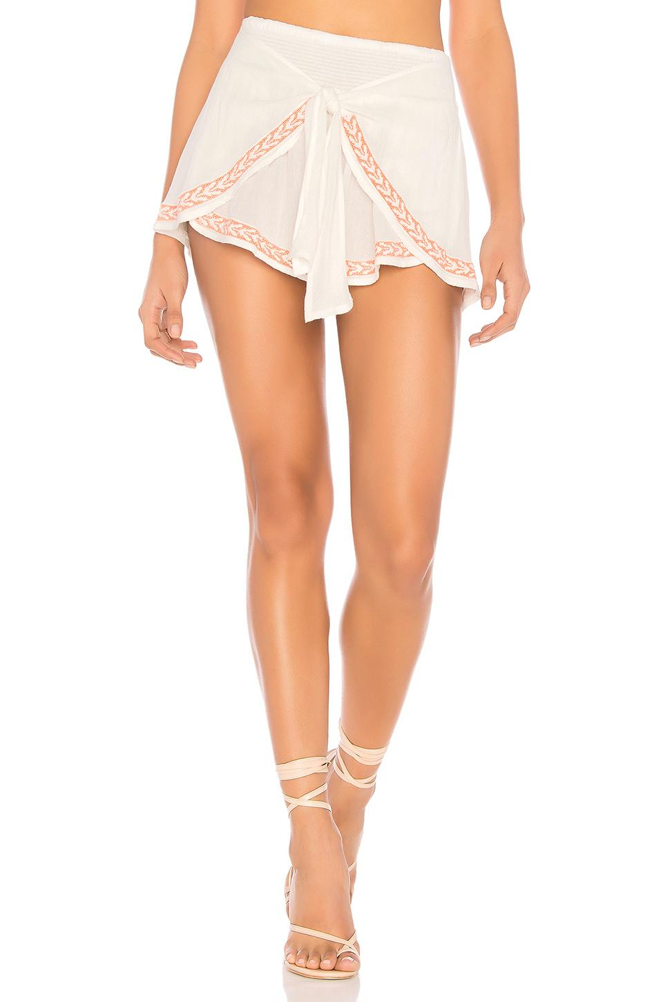 L*space Ivy Tie-front Shorts In White