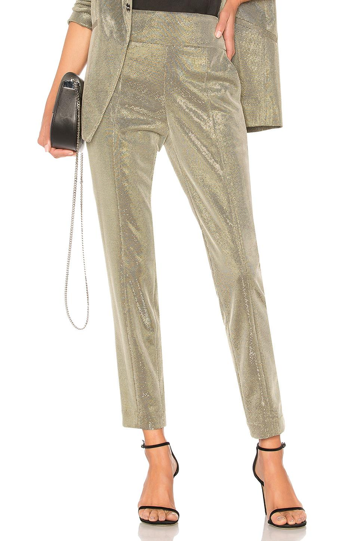 Michelle Mason Tailored Trouser In Platinum