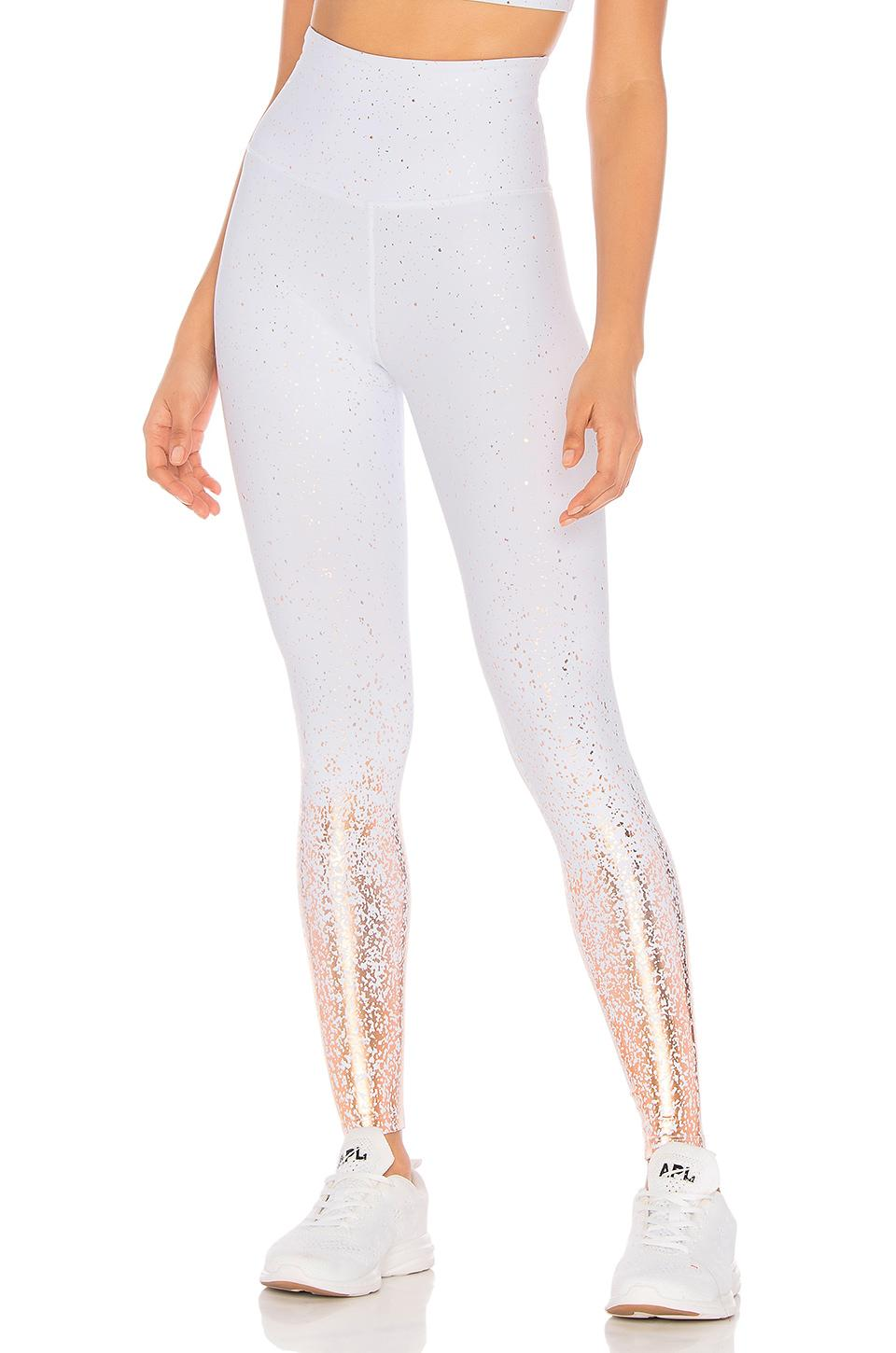 Beyond Yoga Ombre High Waisted Legging In White