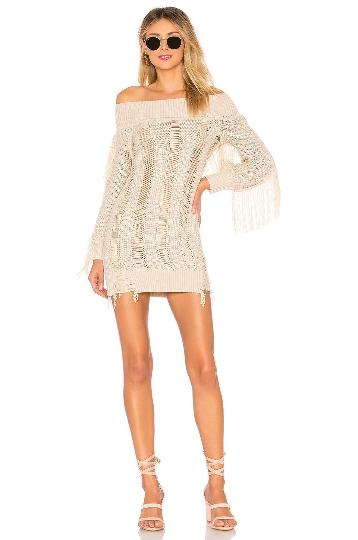 Tularosa Selena Sweater Dress In Cream