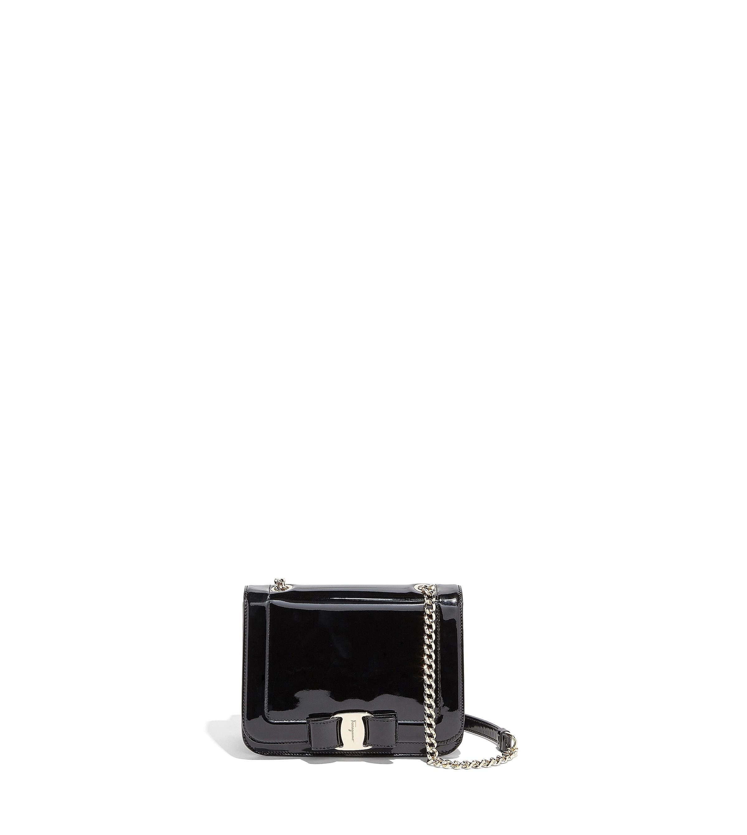 Salvatore Ferragamo Vara Bow Leather Flap Shoulder Bag In Black