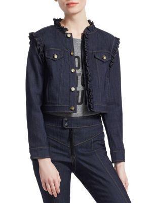Cinq À Sept Allegra Denim Jacket In Indigo