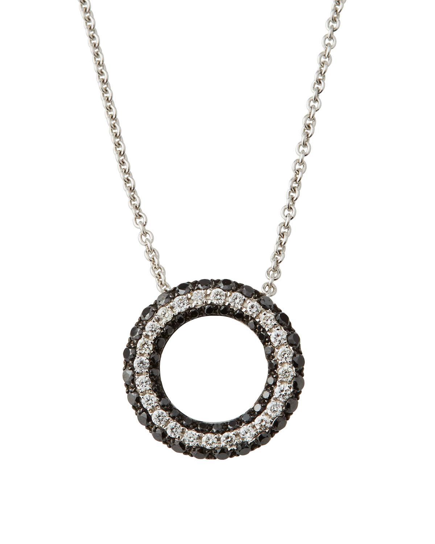 Roberto Coin 18K Black & White Diamond Pendant Necklace