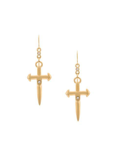Nialaya Jewelry Nialaya Skyfall Sword Earrings In Metallic