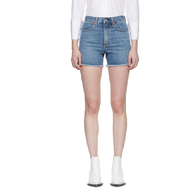79e7e9c4b0 Rag & Bone Rag And Bone Blue Denim Torti Shorts In 100 Vintage ...