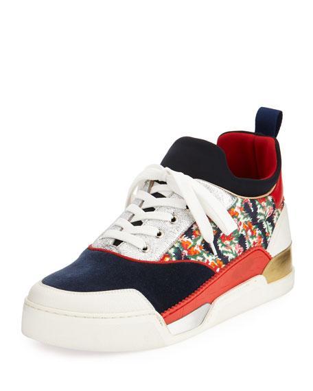 5037c5fc054 Christian Louboutin Men s Aurelien Flat Jumbo Sneakers In Multi ...