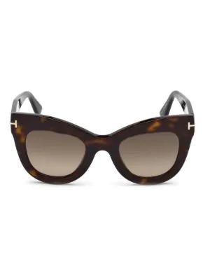 b6c0f6851da5 Tom Ford Karina 47Mm Cat Eye Sunglasses - Dark Havana  Gradient Roviex In  Brown