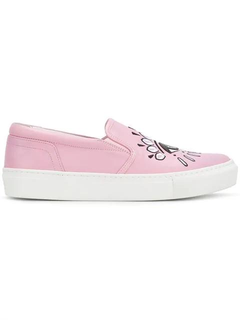 8b3fe6b8e7 Kenzo Pink Eye K-Slate Slip-On Sneakers In 32   ModeSens