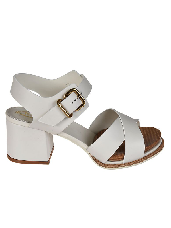 Tod's Chunky Heel Sandals In White