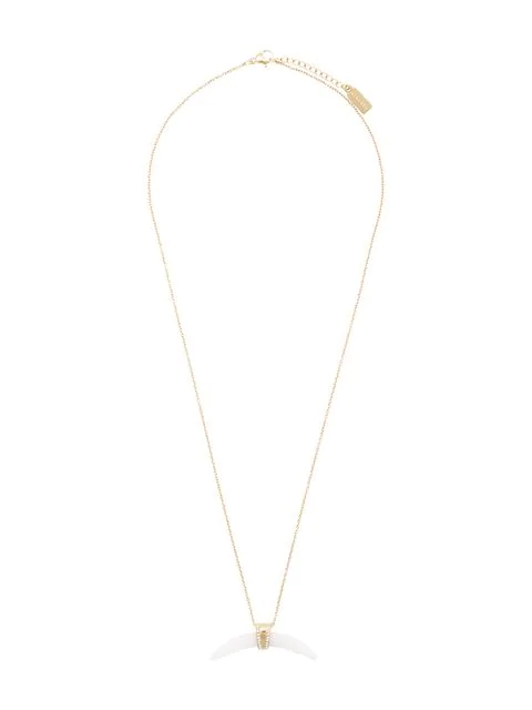 Nialaya Jewelry Mother Of Pearl Horn Necklace In White