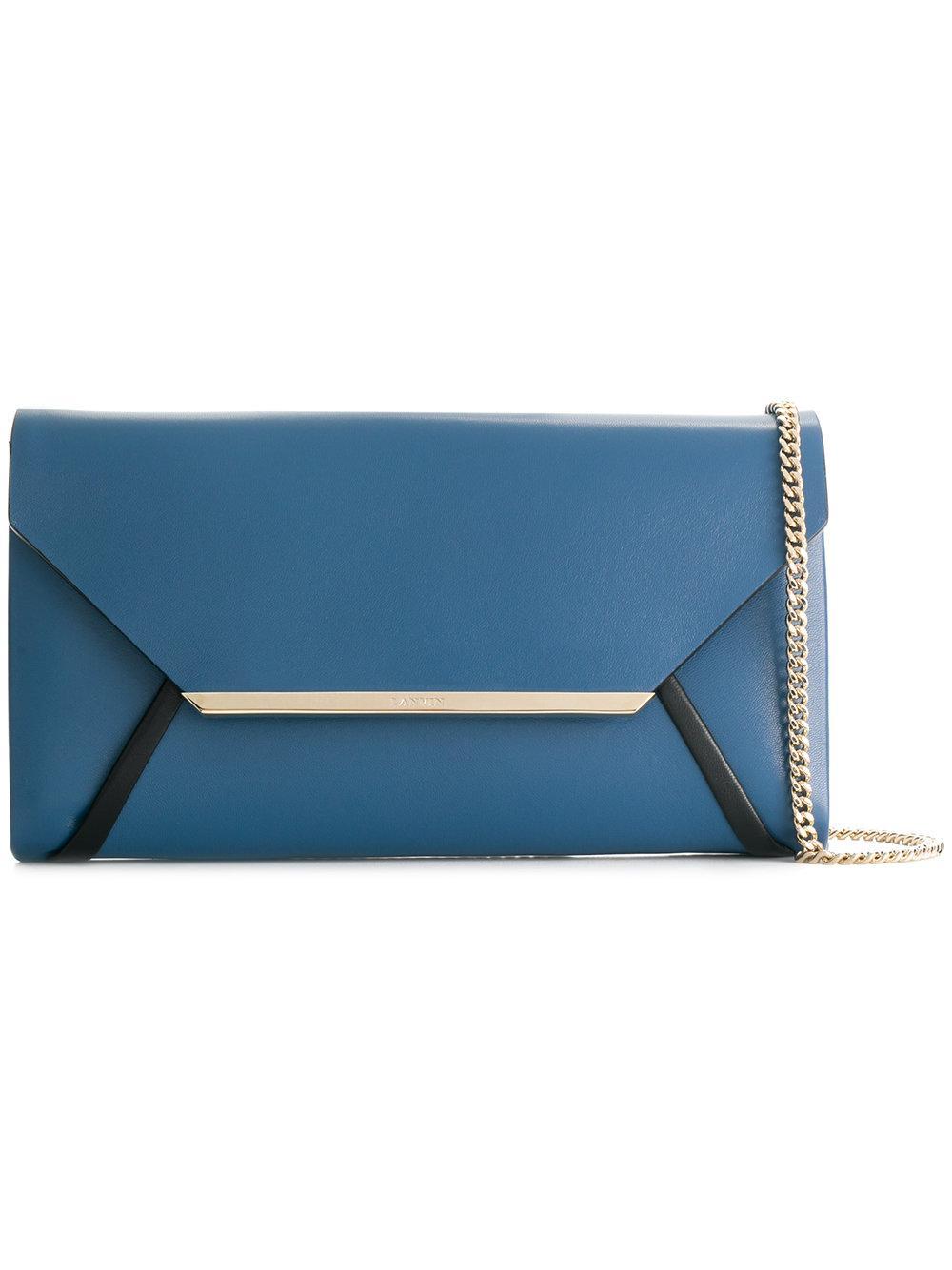 Lanvin Envelope Clutch - Blue