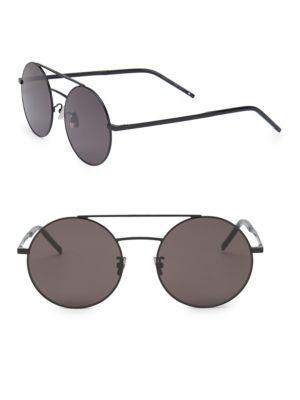 c3cd80569f Stylish sunglasses with semi-matte round metal frame 56mm lens width  20mm  bridge width  150mm temple length 100% UV protection. Smoke lenses