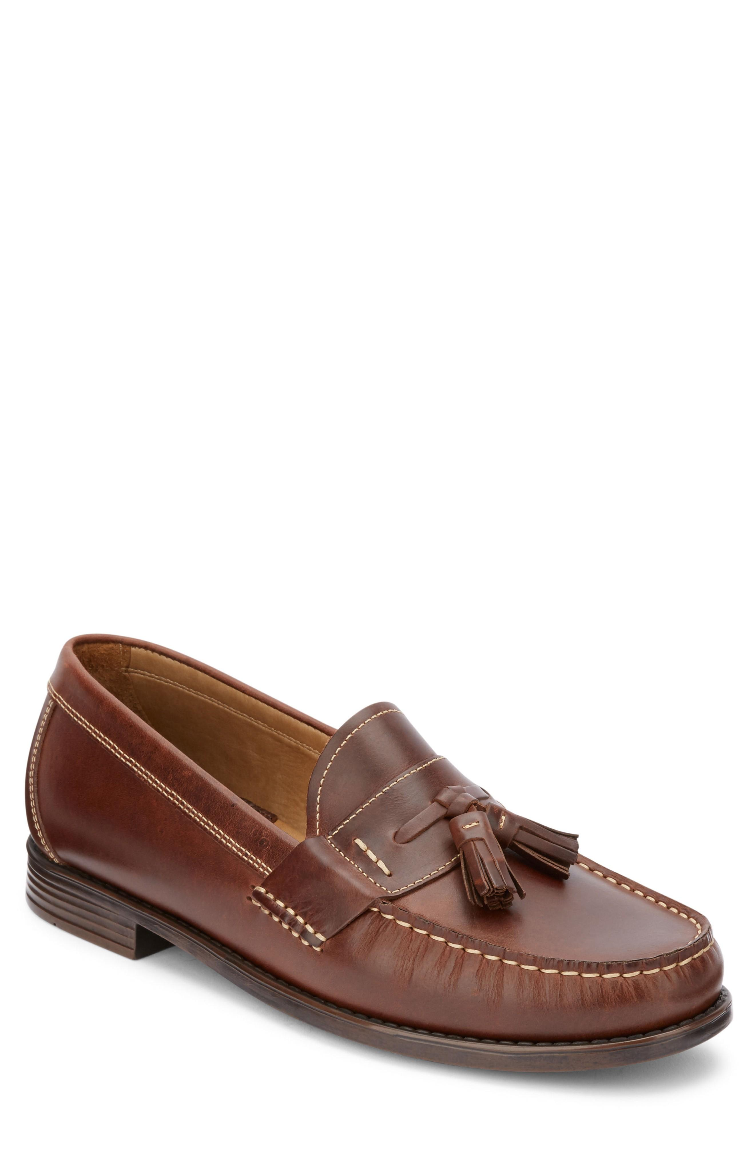 6732d9d2f2b A casual moc-toe loafer in burnished leather is topped by classic tassels  and fitted with cushioned arch support. Style Name G.h. Bass   Co.