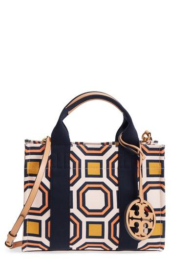 1544ad379c3 Tory Burch Mini Print Canvas Tote - Pink In Ballet Pink Octagon Square