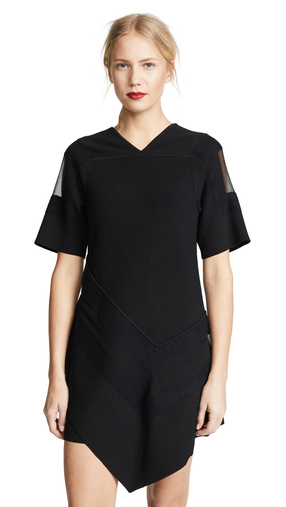 f9de62ef02a1f5 3.1 Phillip Lim Needle Punch Handkerchief Dress In Black   ModeSens
