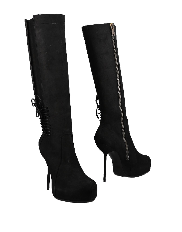 Rick Owens Boots In Black